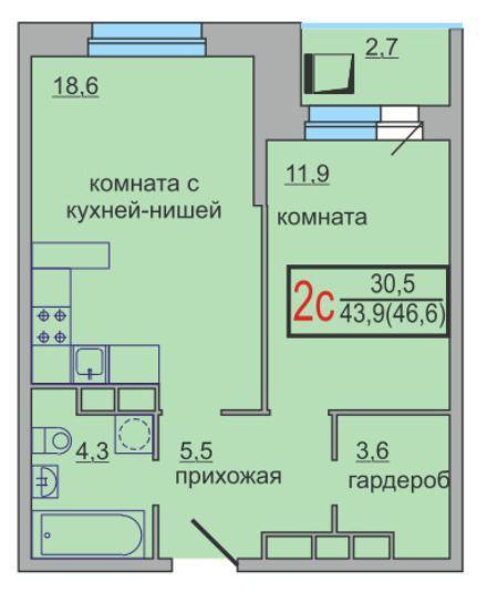 Планировки корпус 17