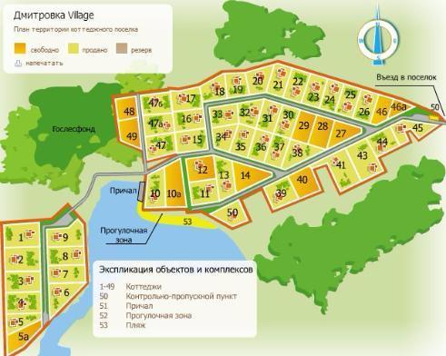 КП «Дмитровка Village» (Дмитровка Вилладж) генплан №1