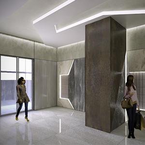В клубном квартале «Резиденции архитекторов» утвержден дизайн-проект входных групп и МОП