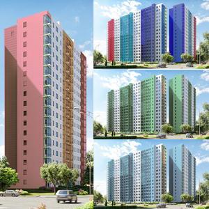Будущие жители V-DOM выбирают цвет фасада своего дома