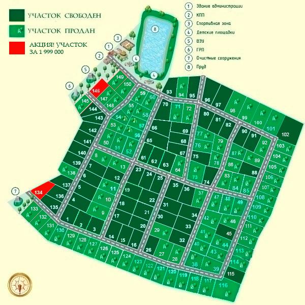 "КП ""Фонтенбло"" генплан №1"